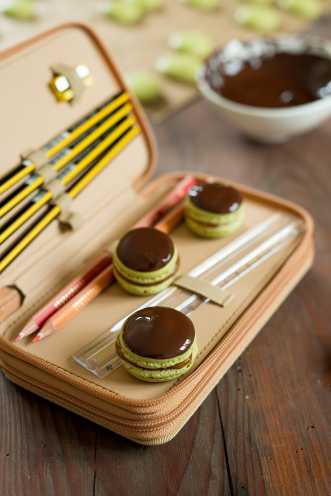 Toffee Macarons – Salzbutterkaramell und Schokolade (Macarons Mi-cho-ko)