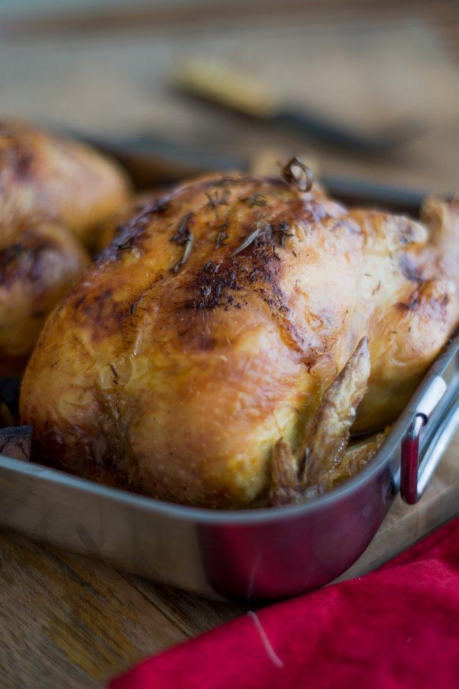 Presque Dinde aux marrons (Weihnachtsgans mit Maronen, naja fast…)