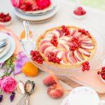 Pfirsich – Johannisbeer – Tarte