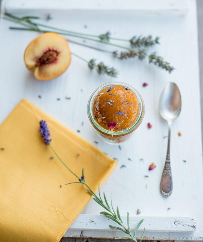 Pfirsich – Lavendel Sorbet