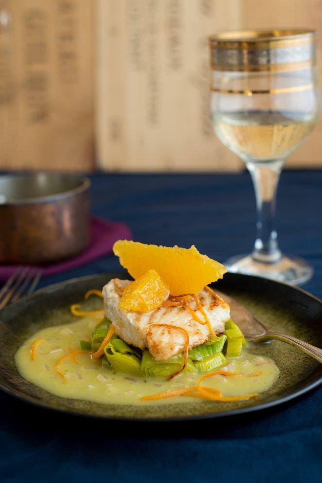 Fischfilet mit Orangen-Butter-Sauce