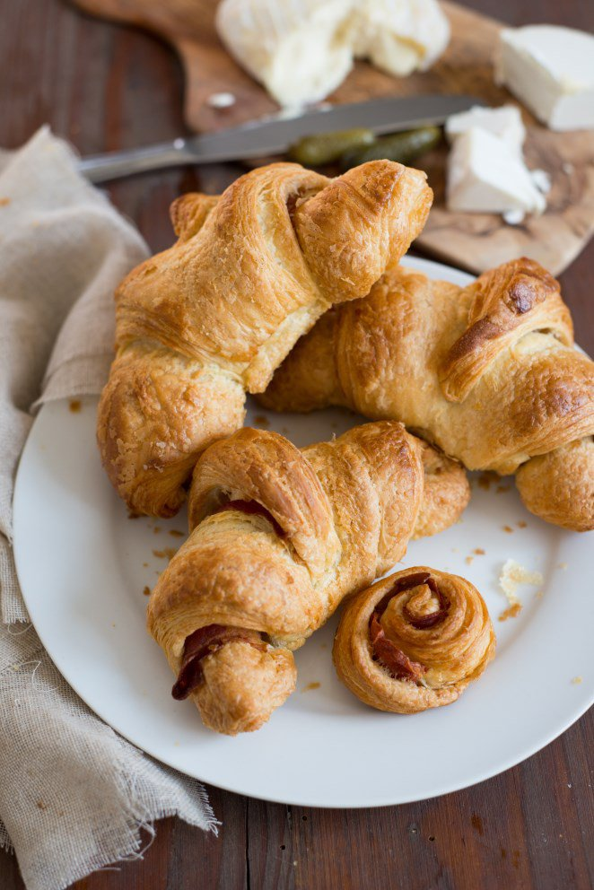 Herzhafte Croissants