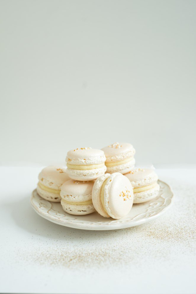 Weiße Macarons