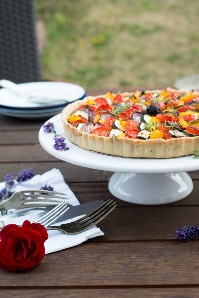 Quiche à la ratatouille