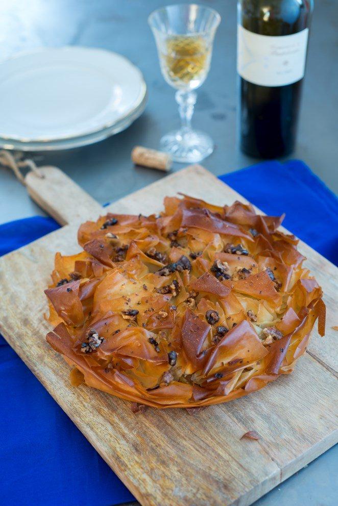 Croustade mit Steinpilzen und Äpfeln (Croustade aux cèpes et pommes)