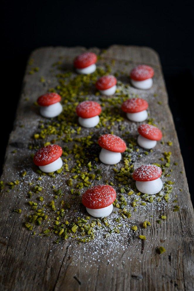 Baiser Pilze (Weihnachtsdeko zum Aufessen)
