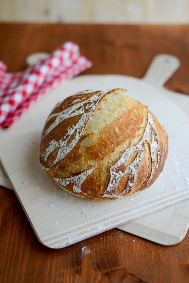 Ein einfaches Brot Rezept mit wenig Hefe